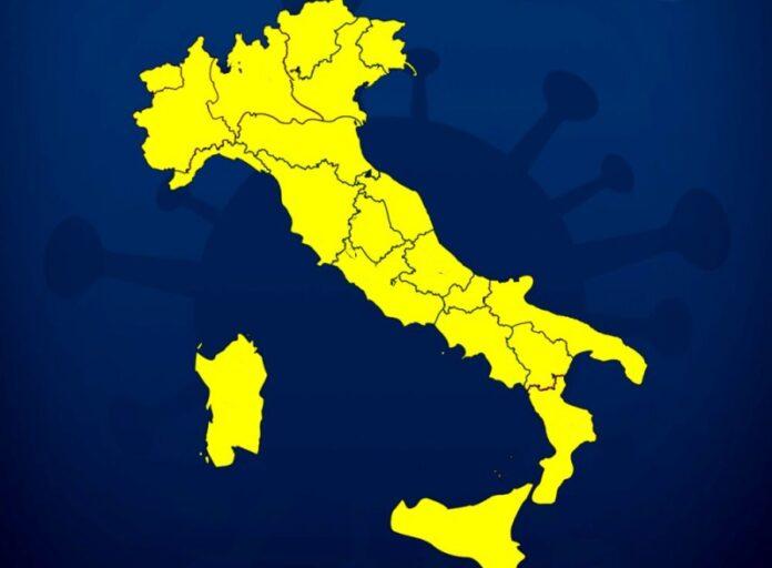 italia tutta zona gialla