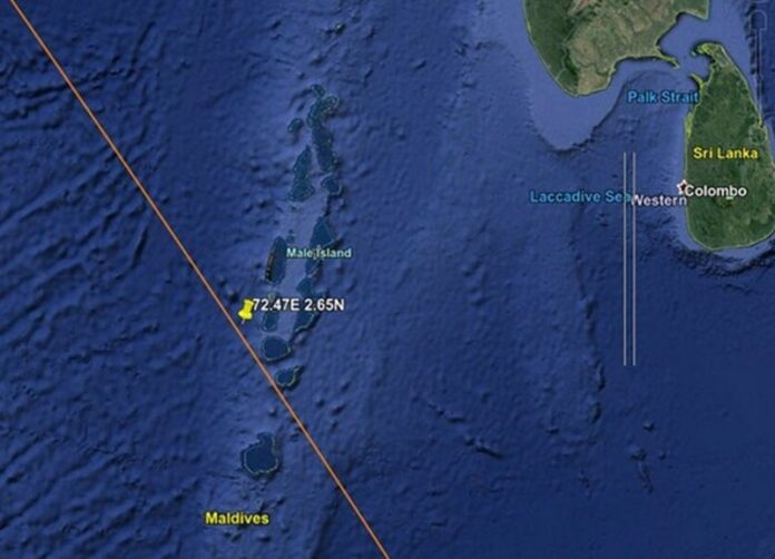 razzo cinese maldive