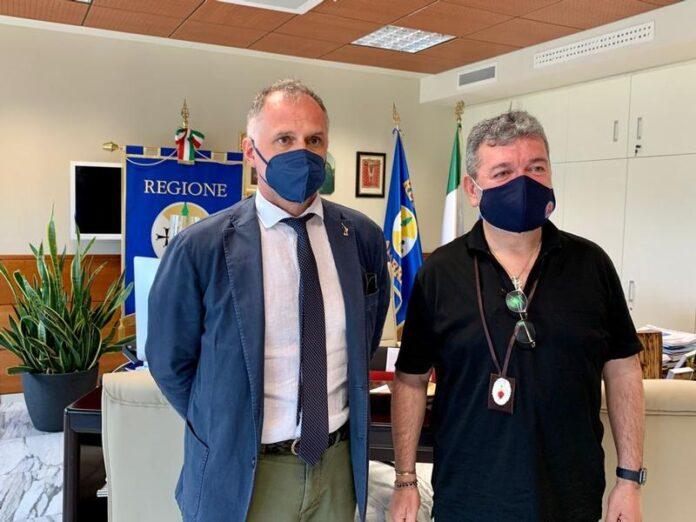 Il presidente Spirlì e il ministro Garavaglia