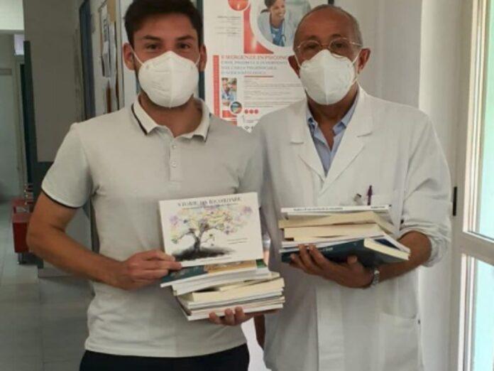 libri donati al reparto di ocologia cosenza