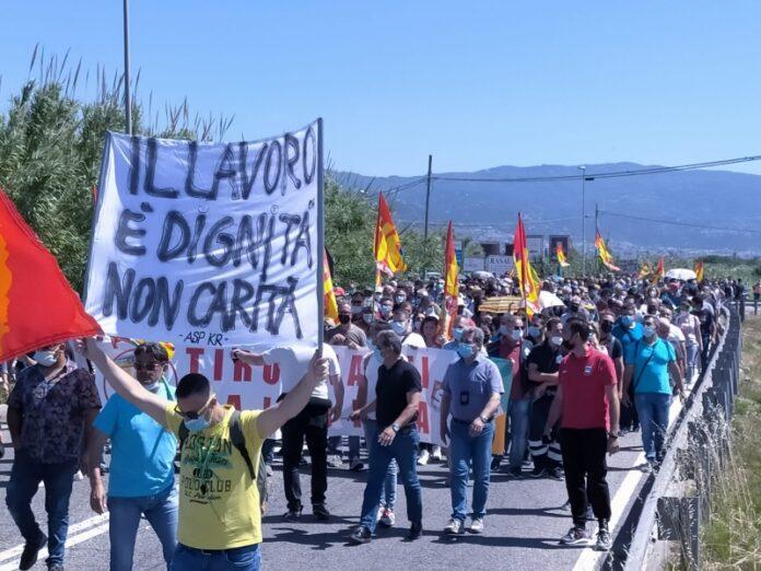 protesta tirocinanti calabresi
