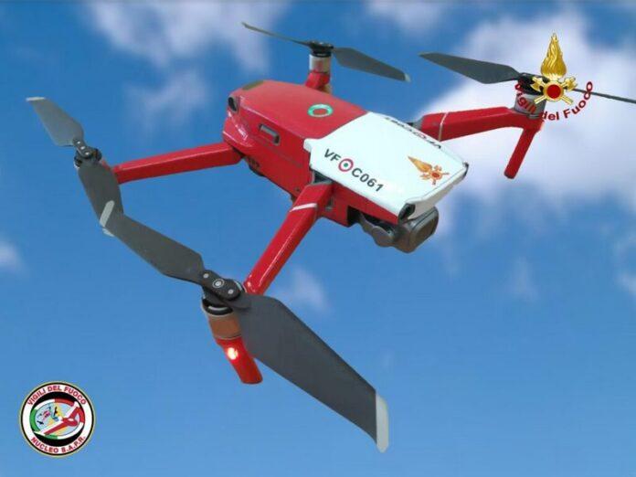 drone vigili del fuoco calabria