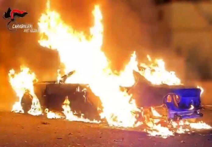 incendio auto vibo
