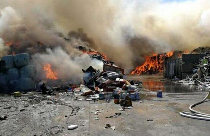 incendio azienda rifiuti