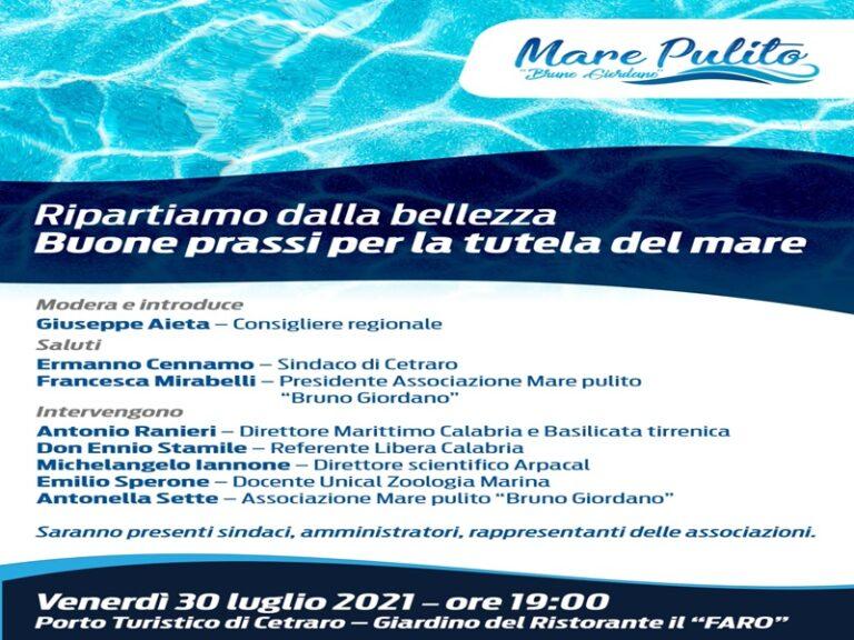 """""""Buone prassi per la tutela del mare"""", convegno a Cetraro"""