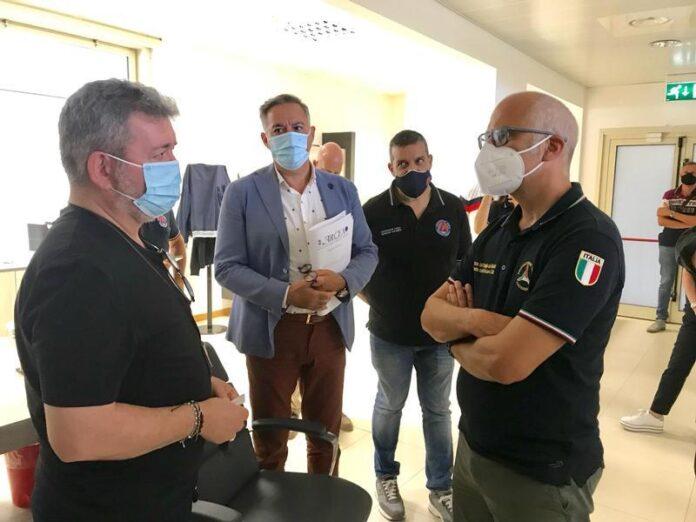 Il presidente Spirlì e il capo della Prociv Curcio