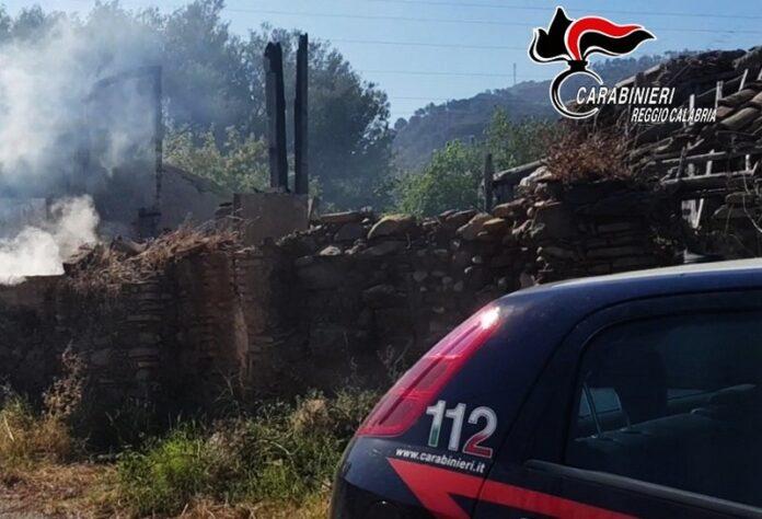 carabinieri domano incendio