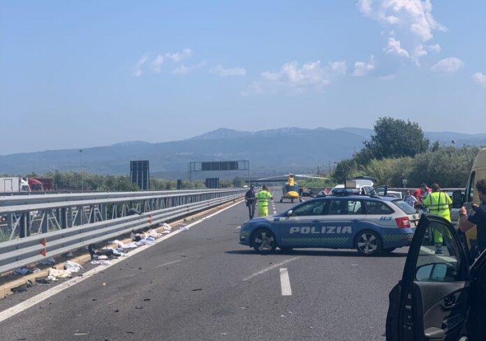 incidente stradale A2