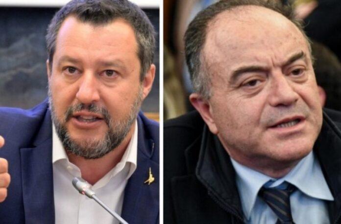 Il leader della Lega Matteo Salvini e il procuratore Nicola Gratteri