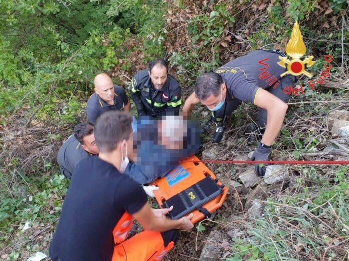 escursionista caduto dirupo Albi