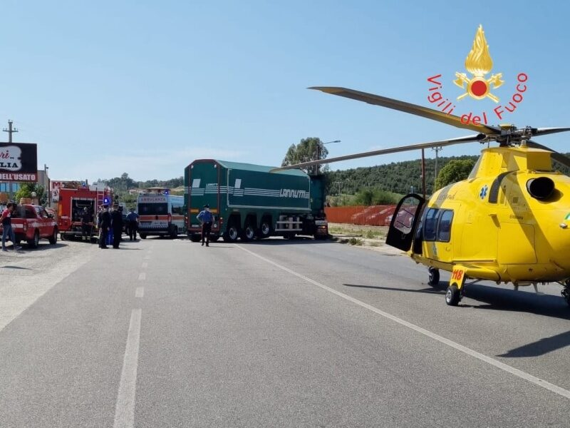 incidente moto camion