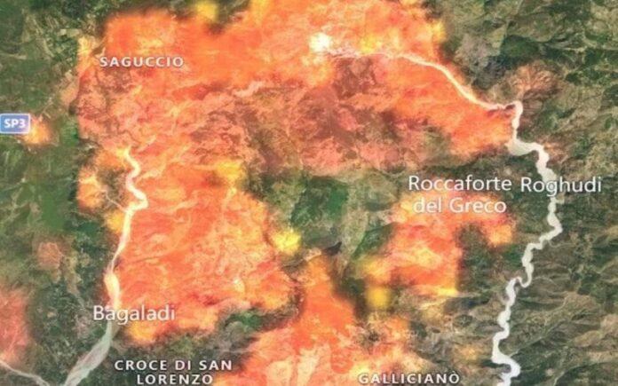 territori incendiati Aspromonte