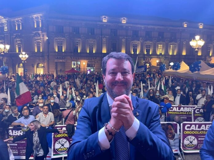 Matteo Salvini vince in Calabria