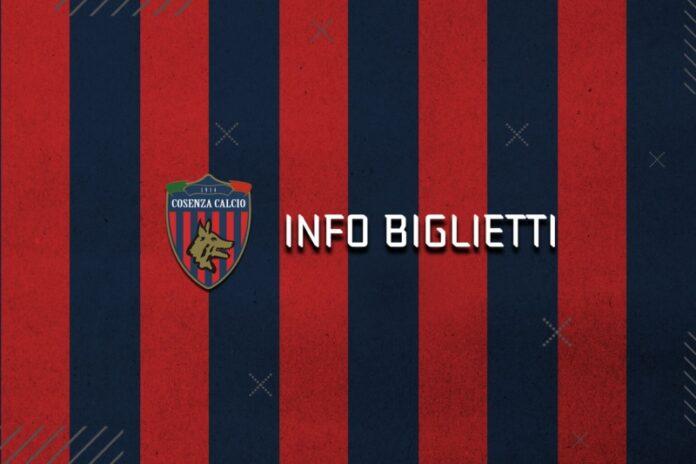 prevendita biglietti partita calcio Cosenza